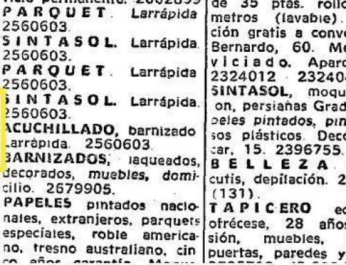 Parksinta en el periódico ABC en 1969