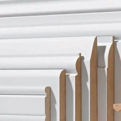 Rodapie Lacado Blanco - 3 manos MDF Hidrófugo