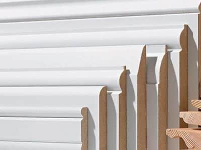 Rodapi lacado blanco 8 5 cm alto x 1 cm grueso x 220 cm largo parksinta parquet tarimas y - Rodapies altos ...