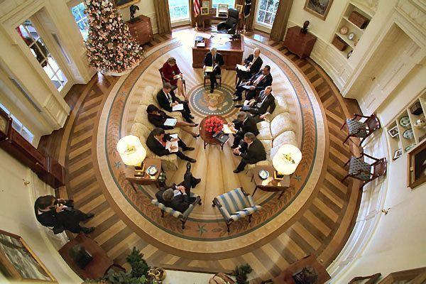 Despacho Oval Tarima renovada